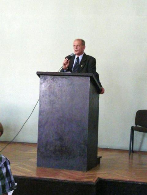 Krystian Grajczak przemawia